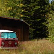 Vintage Volkswagen And Aspens 1 Poster