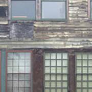 Vintage Warehouse Building Poster