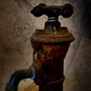 Vintage Water Faucet Poster