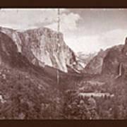 Vintage Yosemite Valley 1899 Poster