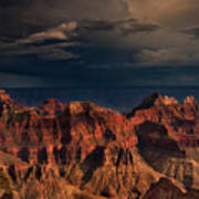 Violent Storm Over The North Rim Grand Canyon National Park Arizona Poster
