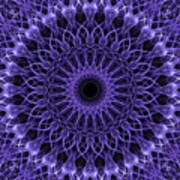 Violet Digital Mandala Poster