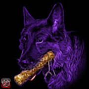 Violet German Shepard And Toy - 0745 F Poster