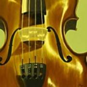 Violin In Yellow Poster