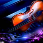 Violin On Piano Poster