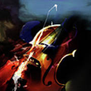 Violin Painting Art 321 Poster