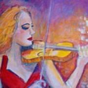 Violin Player Poster