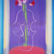 Violin Vase Poster