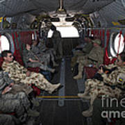 Vips In A Ch-47 Chinook Helicopter Poster