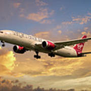 Virgin Atlantic Boeing 787 Dreamliner Poster