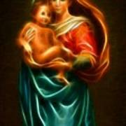 Virgin Mary And Baby Jesus Poster