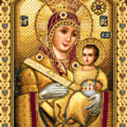 Virgin Mary Of Bethlehem Icon Poster by Stoyanka Ivanova