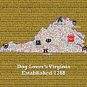 Virginia Dog Lovers Poster
