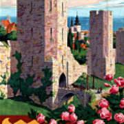 Visby Vintage Travel Poster Restored Poster