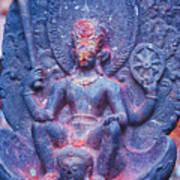 Vishnu Astride Garuda Poster