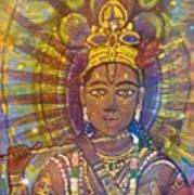 Vishnu Krishna Face Poster