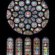 Vitraux - Cathedrale De Chartres - France Poster