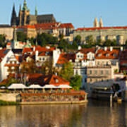 Vitus Cathedral Over Vltava  Poster
