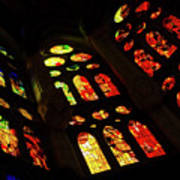 Vivacious Stained Glass Windows Poster