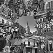Vive Les French Quarter Monochrome Poster