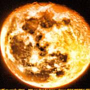 Vivid Full Moon Poster
