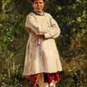 Vladimir Yegorovich Makovsky Russian 1846  1920   Ukrainian Girl, 1898 Poster