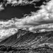Volcan De Fuego - Bnw - Antigua Guatemala Poster