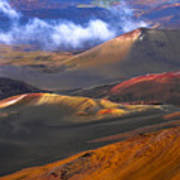 Volcanic Crater In Maui Poster