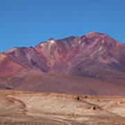 Volcano Crater In Eduardo Avaroa Nr Poster