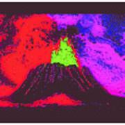 Volcano Dd4 Border Poster