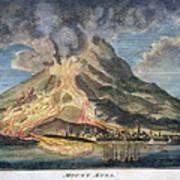Volcano: Mt. Etna Poster by Granger