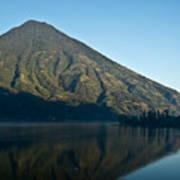 Volcano Reflected In Atitlan Lake 5 Poster