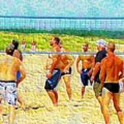 Volleyball At Gordons Pond Poster