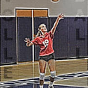 Volleyball Girl Poster by Kelley King