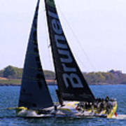 Volvo Ocean Race Team Brunel Poster