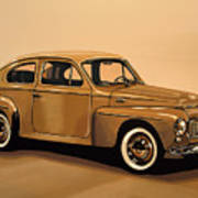 Volvo Pv 544 1958 Painting Poster