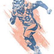 Von Miller Denver Broncos Water Color Art 7 Poster