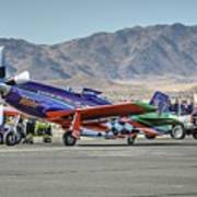 Voodoo Engine Start Sunday Gold Unlimited Reno Air Races Poster