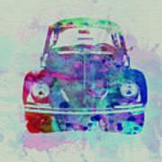 Vw Beetle Watercolor 2 Poster by Naxart Studio