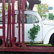 Vw Bug On A Trailer Poster