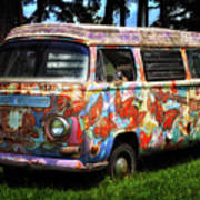 Vw Psychedelic Microbus Poster