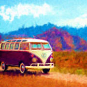 Vw Van Classic Poster by Marilyn Sholin