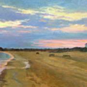 Wades Beach Sundown Study II Poster