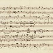 Wagner, Richard Autograph Working Drafts For Act I Of Der Fliegende Hollander Poster