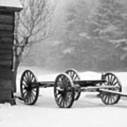 Wagon In Winter Poster