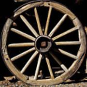 Wagon Wheel Texture Poster