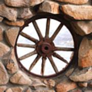 Wagon Wheel Window Poster