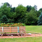 Wagon With Flowers Poster