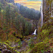 Wahclella Falls In Columbia River Gorge Poster