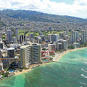 Waikiki From The Air  Poster